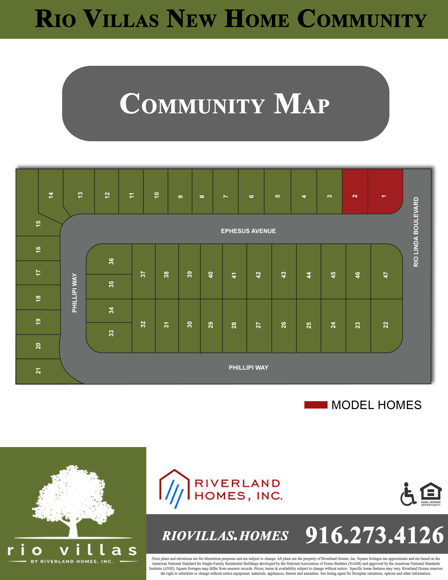 Riverland Homes Properties - Community Map For Rio Villas